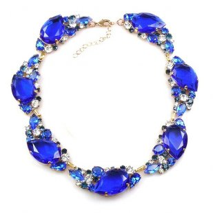 Fountain Necklace ~ Cobbalt Blue