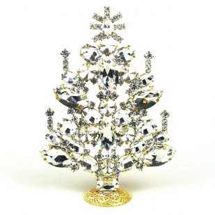 2020 Xmas Tree Decoration 16cm Navettes ~ Clear Crystal