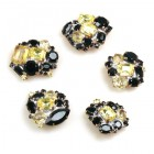 Lot of 5 pc. Rhinestone Buttons ~ #04