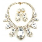 Lady Charm Necklace Set with Earrings ~ Clear Crystal