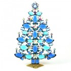 2020 Xmas Tree Decoration 21cm Navettes ~ Blue Aqua AB