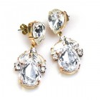 Anna Marie Earrings Pierced ~ Clear Crystal
