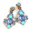 Fatal Touch Earrings Clips-on ~ Blue Aqua