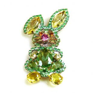 Bunny Easter Brooch Smaller ~ Green