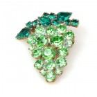 Grape Brooch ~ Green