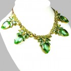 Clementine Necklace ~ Green with Yellow