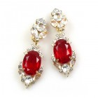Mythique Clips-on Earrings ~ Crystal Red
