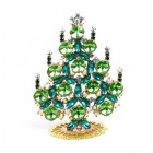 Rivoli Xmas Stand-up Tree 9cm ~ Green Emerald