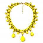 Raindrops Necklace ~ Opaque Yellow
