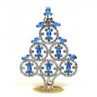 Xmas Tree Decoration Rings and Navettes ~ Clear Blue
