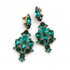 Fatal Kiss Earrings Pierced ~ Emerald