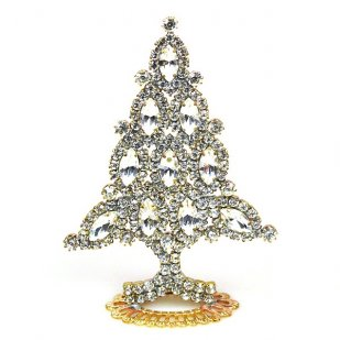 Xmas Tree Standing Decoration 2018 #10 Clear Crystal