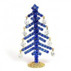 Decoration Xmas Tree with Dangling Rondelles #3 ~ Blue