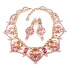 Roxanne Necklace Set with Earrings ~ Pink