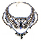 Crazy Meadow Necklace ~ Black with Blue