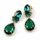 Effervescence Earrings for Pierced Ears ~ Emerald