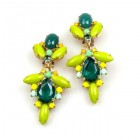 Sweetness Earrings Clips ~ Green Yellow
