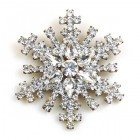 Snowflake Pin ~ Clear Crystal #7