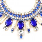 Moment with You Necklace ~ Clear Crystal and Sapphire Blue