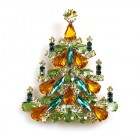 Xmas Tree Brooch #03 ~ Topaz Emerald Green