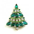 Xmas Tree Brooch #09 ~ Emerald