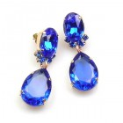 Effervescence Earrings for Pierced Ears ~ Blue