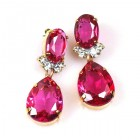 Effervescence Earrings for Pierced Ears ~ Fuchsia