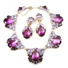 Iris Necklace Set ~ Violet Amethyst