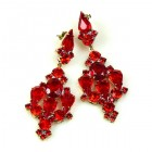 Fatal Kiss Earrings Pierced ~ Red