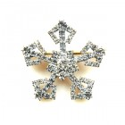 Snowflake Pin ~ Clear Crystal #2