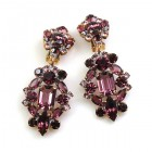 Fatal Passion Earrings Clips-on ~ Purple
