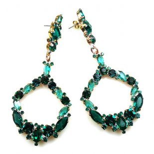 Paradise Valley Earrings Pierced ~ Emerald