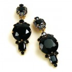 Taj Mahal Earrings Clips ~ Black