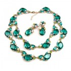 Timeless Chunky Bib Set ~ Emerald Green