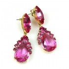 Mon Cheri Earrings Pierced ~ Fuchsia