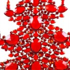 13 Inches Giant Xmas Tree with Ovals ~ Red Tones
