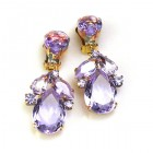 Anna Marie Earrings Clips ~ Violet