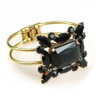 Gallery Clamper Bracelet ~ Black