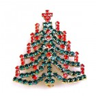 Chain Xmas Tree Brooch #01