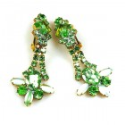 Peridot Green Earrings with Clips