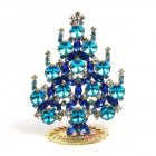 Rivoli Xmas Stand-up Tree 9cm ~ Aqua Blue