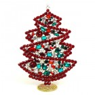 2020 Xmas Tree Stand-up Decoration 17cm with Crystals ~ #1