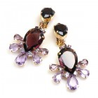 Xara Earrings Clips ~ Purple Amethyst