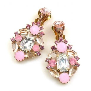 Fatal Touch Earrings Clips-on ~ Pink