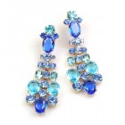 Dione Earrings Pierced ~ Blue Aqua