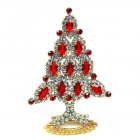 Xmas Tree Standing Decoration 2020 #10 Red Clear