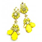Parisienne Bloom Earrings Pierced ~ Sunshine