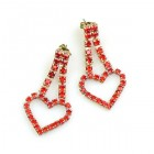 Red Hearts #1 ~ Pierced Earrings
