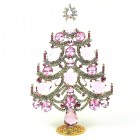 Xmas Tree Standing Decoration 2020 #02 ~ Pink Clear