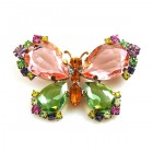 Butterfly Multicolor Brooch ~ #3